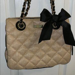 Super cute black and gold Kate Spade purse